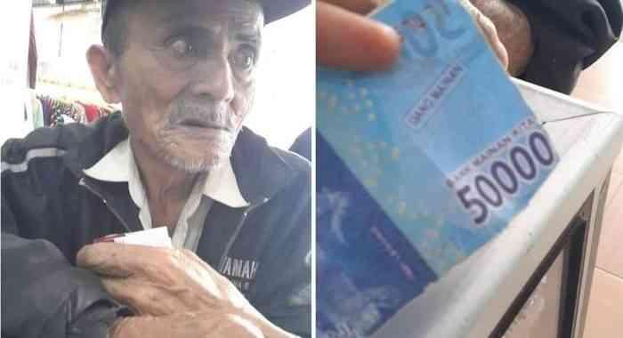 Kakek Tua Ditipu Uang Mainan