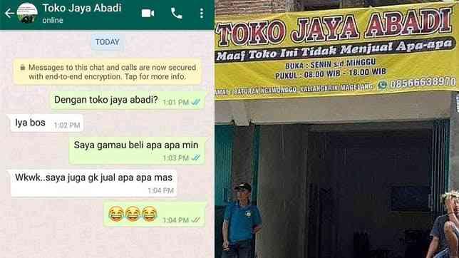 Toko Jaya Abadi Toko Tidak Jual Apa-apa